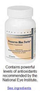 Macular Degeneration Vitamin